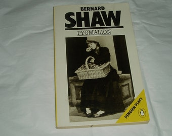 Vintage books- Pygmalion Bernard Shaw- softcover- Penguin Plays- Shaw book- vintage playwright- Bernard Shaw- famous playwright- Pygmalion