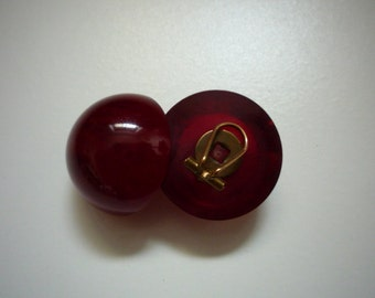 Beautiful Vintage Cherry Lucite Clip On Earrings