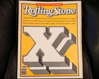 20th Anniversary Issue Rolling Stone Magazine 512 1987, David Bowie Hunter S Thompson Mick Jagger Jack Nicholson Keith Richards Joplin Bono