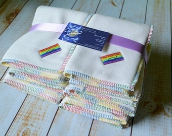 Hemp fleece/Heavy bamboo fleece trifold insert cloth  diaper insert Sow Much Love