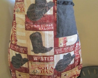Women's half Western apron