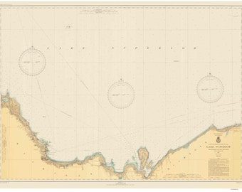 Grand Marais to Big Point Bay - 1943 - Lake Superior, Michigan - Nautical Map Reprint  - Harbor  9-93
