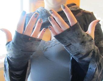 Zombie Skin Fingerless Gloves