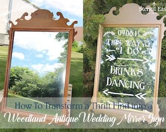 Woodland Wedding Stencil Kit