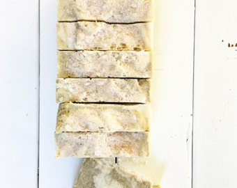 OCEAN BAR   Sea Salt Bar   Handmade Soap   Made with European Green Clay, Organic Sea Kelp, Lime and Bergamot   All Natural