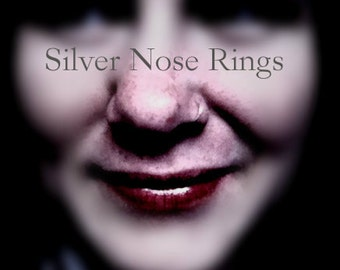 20G 22G 24G Nose Hoops 6mm 9mm 11mm 13mm Silver Filled Nose Hoop Ring