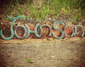 Horseshoe Name signs- Country Rustic Name signs - Handmade Home decor - Personalized Name signs - personalized gift - Rustic Name sign
