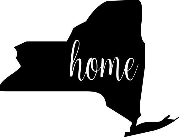 New York State Vinyl Decal Sticker 6 Quot X 4 5 Quot Home Ny Free