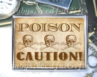Skulls Cigarette Case, Cigarette Box, Metal Cigarette Case, Metal Wallet, Birthday Gift, Best Friend Gift, Skulls Poison.