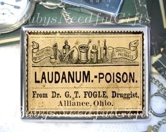 Laudanum Cigarette Case, Cigarette Box, Metal Cigarette Case, Metal Wallet, Birthday Gift, Best Friend Gift, Laudanum Poison.