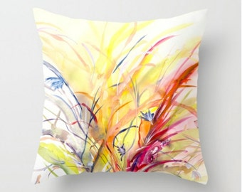 Spring Pillow Decorative Throw Pillow- Abstract Floral Pillow - Home Decor- Colorful -Floral Pillows - Sofa Pillows - Floral Bedding