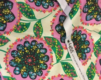 Amy Butler Fabric - Lark Charisma PWAB071- Rosy pink  with green by Westminster 100% High Quality Cotton Yardage
