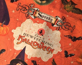 Halloween Witchy Fabric Bewitching Halloween by Hi Fashion Fabrics  - 100% High Quality Cotton