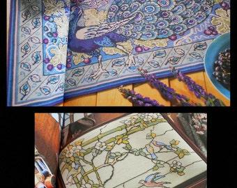 ART NOUVEAU Cross Stitch Barbara HAMMET Tiffany De Morgan Crane Klimt Mackintosh Voysey Mucha Turn of the Century Designs Color Charts