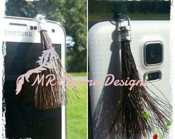 Horse Hair Tassel Cell Phone Charm