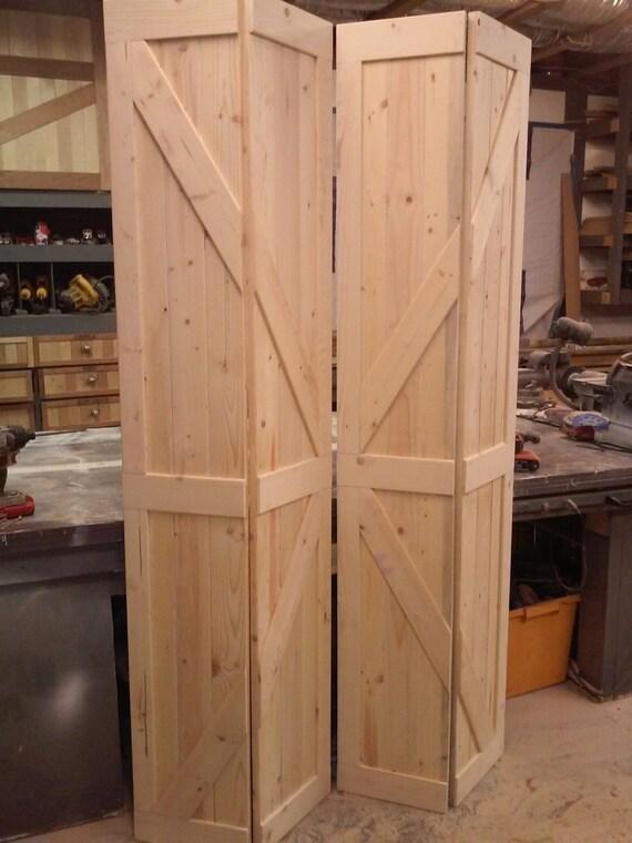 Items Similar To Bi Fold Barn Doors Replace Your Existing