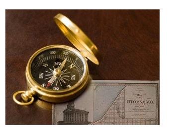 Pioneer Trek Brass Compass