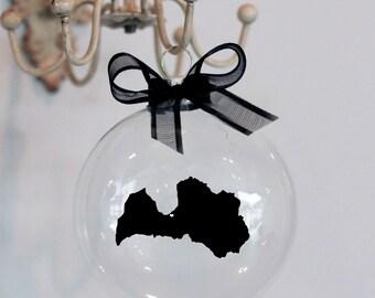 Latvia Christmas Ornament, Custom, Adoption, Travel