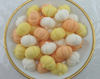 45 Mini Pumpkin Shaped Sugar Cubes for Autumn, Fall, Halloween, Thanksgiving, Tea Party, Party Favor