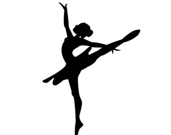 SVG Pretty Ballerina silhouette Cuttable File - INSTANT DOWNLOAD - for use with silhouette cameo, cricut, Sizzix, other machines