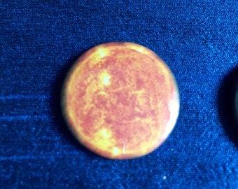 The Sun 25mm Badge