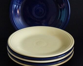 25% Off, Vintage, Set of Six Fiesta Dinner Plates