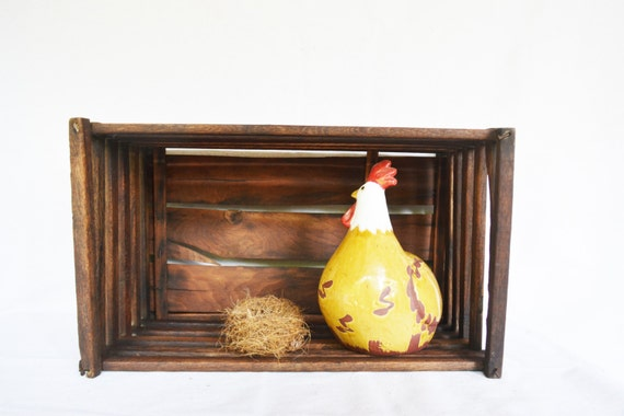 General Store Rustic Wooden Egg Crate Storage Holder ...  |Egg Crate Shelving