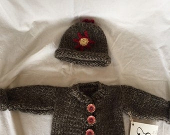 Baby sweater with hat