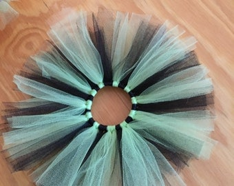 Tutu Hair Tie- lime green and black (4 inches)