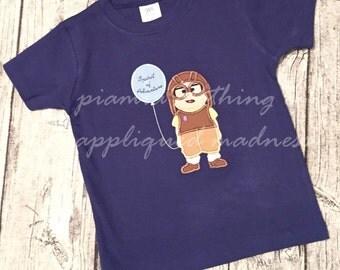 Appliqued Madness Custom Appliqued Disney Carl UP Shirt or Baby One Piece