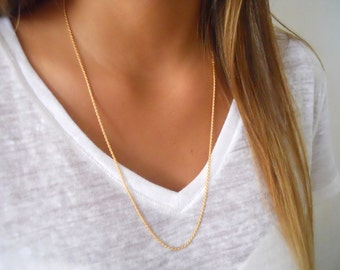 Rope Chain Necklace; Minimal Gold Filled Necklace; Gold Chain Necklace; Dainty Gold Filled Necklace; Layering Necklace;