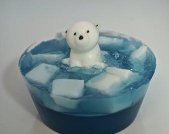 10 Polar Bear Soap Favors--- Party Favors, Birthday Party, Baby Shower-Kids Soap - Fun Soap - Novelty Soap - Natural Bar Soap -