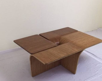 Modernist Eames Era Bent Plywood Coffee Table, C.1965