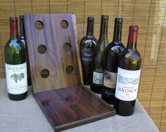 Wine Rack, Black Walnut, Hardwood, Handcrafted