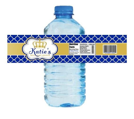 Royal Baby Shower Water Bottle Labels Royal Birthday Bottle