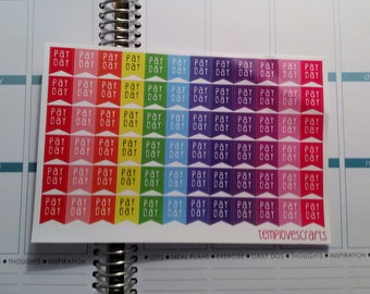 72 multicolored pay day stickers