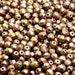 100pcs Czech Fire-Polished Faceted Glass Beads Round 4mm Silky Gold Iris Matte (4FP072)