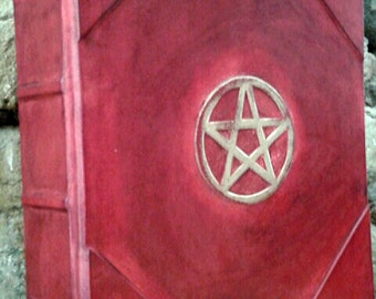 Blank book of shadows-wicca-REFILLABLE- Pentacle