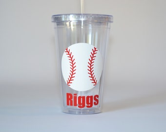 Baseball Player Gift,Baseball Tumbler, Wedding attendant gift - With or without wedding rings - ring bearer gift
