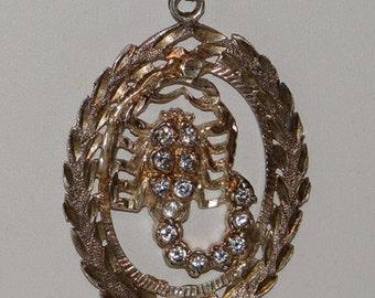 Necklace Vintage Scorpion Sterling Silver w Rhinestones or CZ