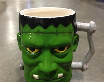 huge frank frankenstein monster coffee cup halloween