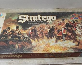 Statego, Vintage Board Game, 1986, Milton Bradley