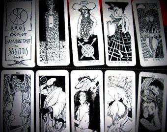 k     A O S Tarot -available- 22 big Arcana Major Tarot Deck - B/W - plasticized  - limited edition of 50 decks by Sagittis