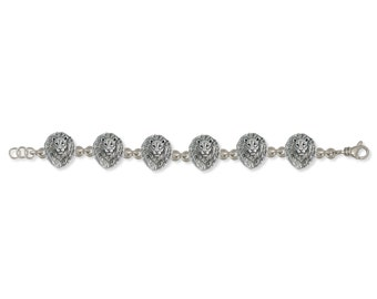 925-sterling Handmade Lion Statement Bracelet Jewelry   LION6-BR