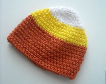 Crocheted Candy Corn Hat - Baby