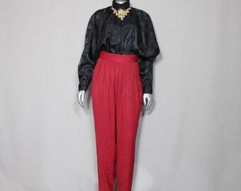 Black Batwing Sleeve  Satin Look Dress Blouse