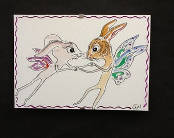 Rabbits Fairy painting