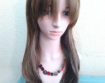 long hair brown wig light brown