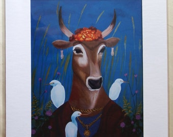Frida Kowlo - Matted Art Print by JL Zahavich