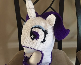 Crochet my little pony Rarity hat